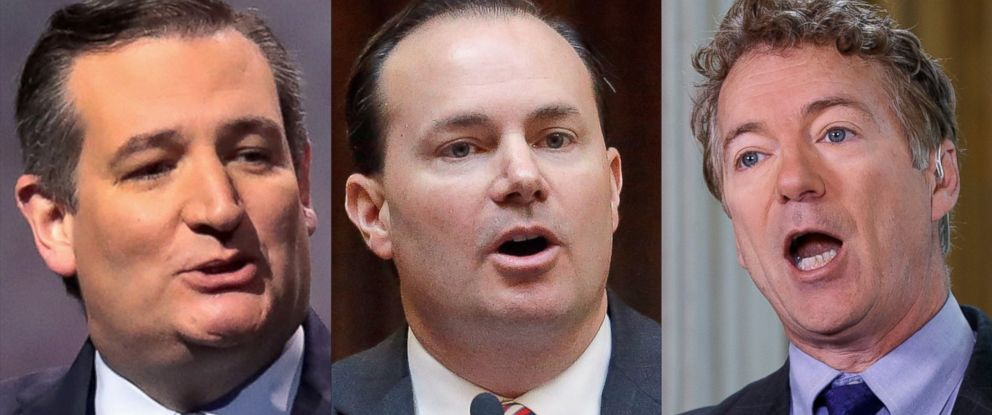 PHOTO: Senators Ted Cruz, Mike Lee and Rand Paul all tweeted after the original House bills introduction that they would oppose anything short of a full repeal of Obamacare.
