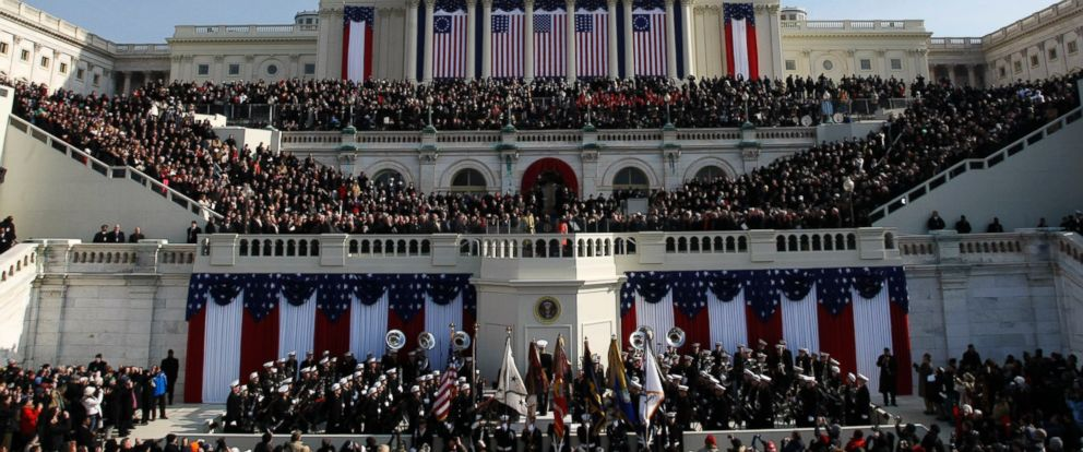 PHOTO: Barack Obama, left, takes the oath of office from Chief Justice John Roberts to become the 44th president of the United States at the U.S. Capitol in Washington, Jan. 20, 2009.