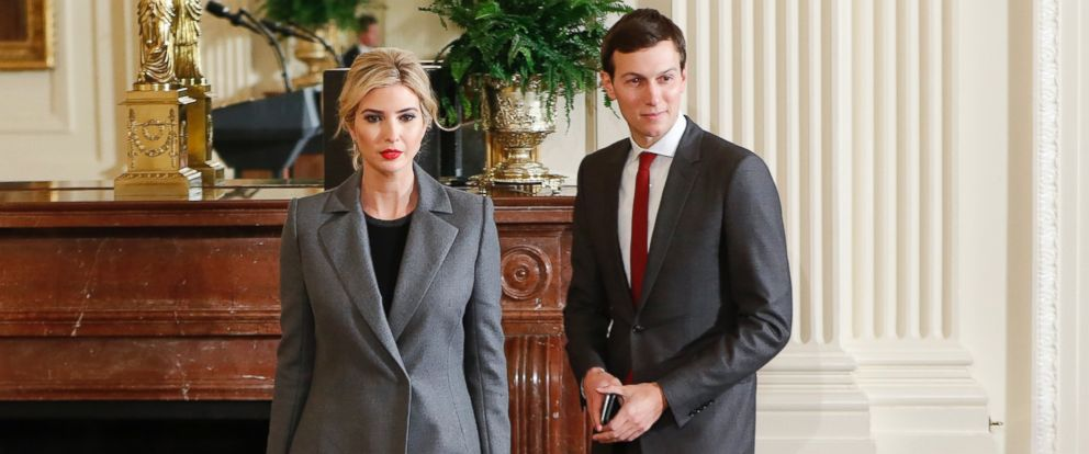PHOTO: Ivanka Trump, daughter of President Donald Trump and her husband, senior adviser Jared Kushner, in Washington, Feb. 15, 2017, for a joint news conference with President Donald Trump and Israeli Prime Minister Benjamin Netanyahu.
