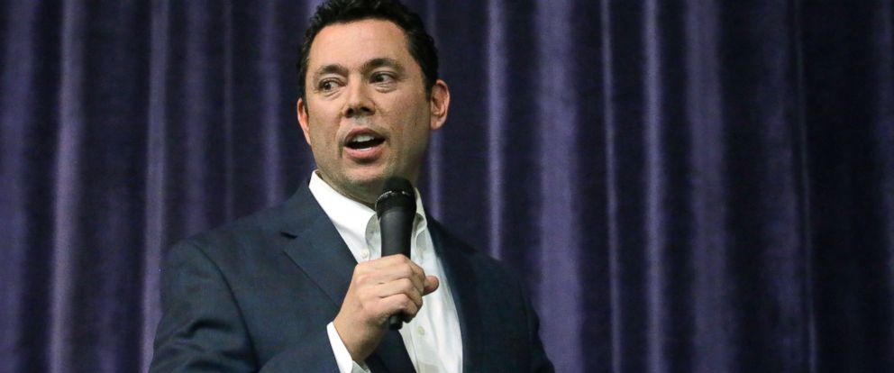 PHOTO: Rep. Jason Chaffetz speaks during a town hall meeting at Brighton High School, on Feb. 9, 2017, in Cottonwood Heights, Utah.
