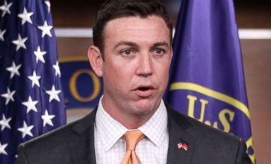 PHOTO: Rep. Duncan Hunter speaks during a news conference on Capitol Hill in Washington., April 7, 2011.