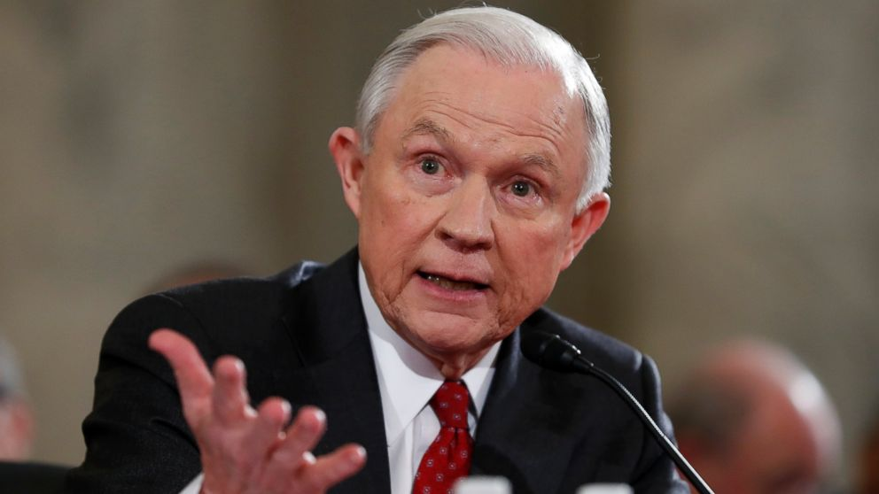 Attorney General-designate, Sen. Jeff Sessions, testifies on Capitol Hill in Washington,D.C., Jan. 10, 2017, at his confirmation hearing before the Senate Judiciary Committee.