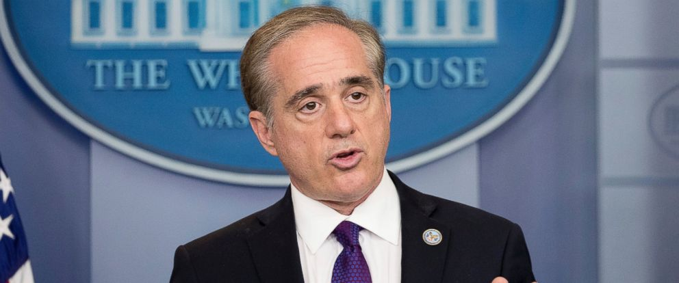 PHOTO: Veterans Affairs Secretary David Shulkin speaks at the daily press briefing at the White House in Washington, June 5, 2017.