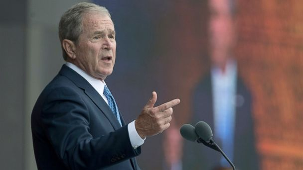 Bush blasts bigotry and white supremacy, says US politics 'vulnerable' to 'outright fabrication'