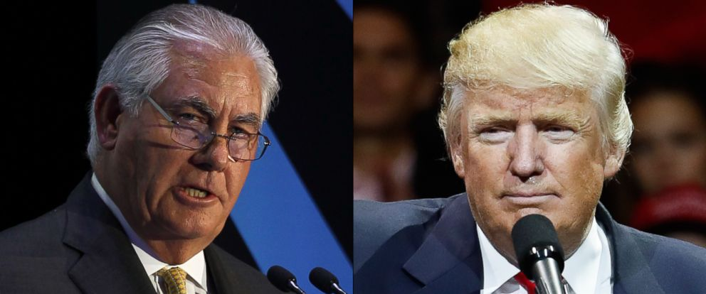 PHOTO: Rex Tillerson and Donald Trump are seen here.