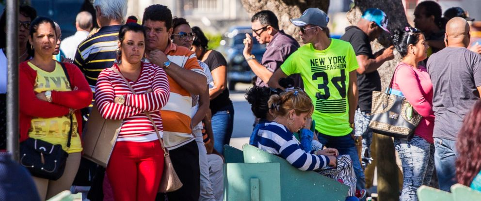 PHOTO: People wait for visas outside the United States embassy in Havana, Cuba, the day after Republican presidential candidate Donald Trump defeated Democrat Hillary Clinton in the U.S. general election, Nov. 9, 2016.