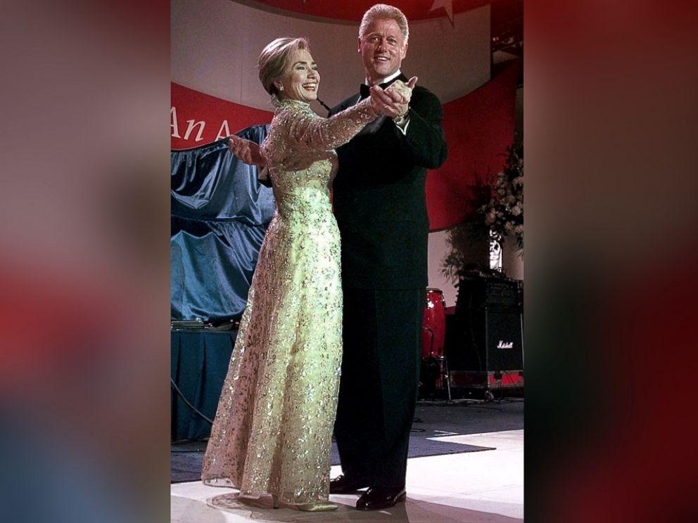 PHOTO: President Clinton and Hillary Clinton dance at the New England Ball, Jan. 20, 1997, in Washington.