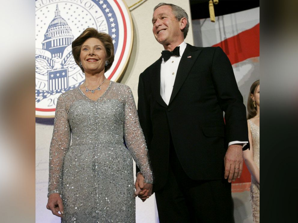 PHOTO: President George W. Bush and first lady Laura Bush attend The Constitution Ball, Jan. 20, 2005.