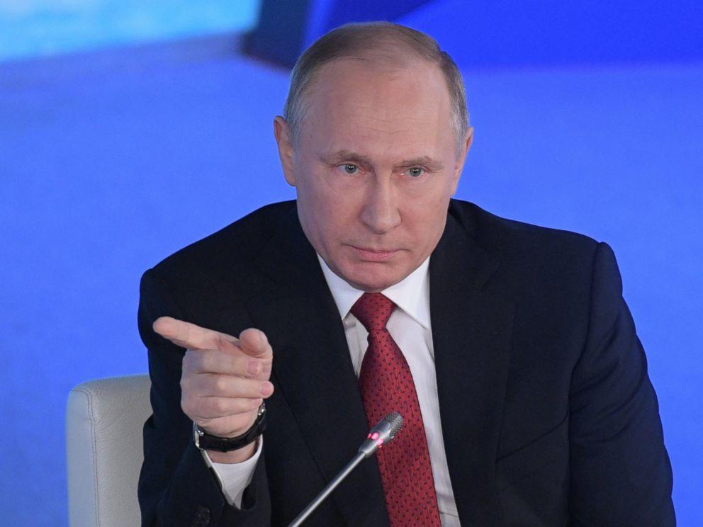 PHOTO: Vladimir Putin speaks at the international Arctic forum in Arkhangelsk, Russia.