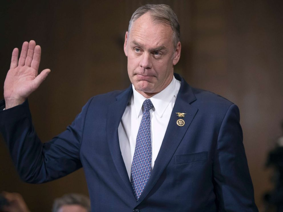 PHOTO: Representative Ryan Zinke, a former Navy SEAL commander, testifies before a Senate Energy and Natural Resources Committee confirmation hearing on his nomination to be Interior Secretary at Capitol Hill in Washington, Jan. 17, 2017.