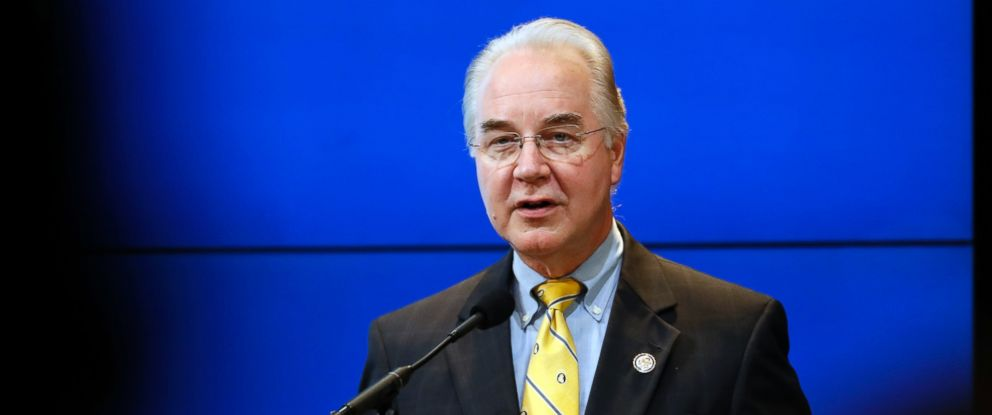 PHOTO: House Budget Committee Chairman Tom Price, President-elect Donald Trumps choice for Health and Human Services Secretary, at the Brookings Institution, Nov. 30, 2016 in Washington.