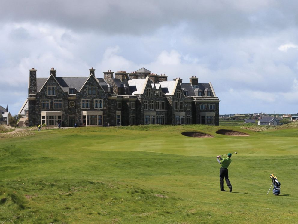 PHOTO: A golfer is seen on the Doonbeg Golf Links Course and Hotel in County Clare, Ireland, May 12, 2014.