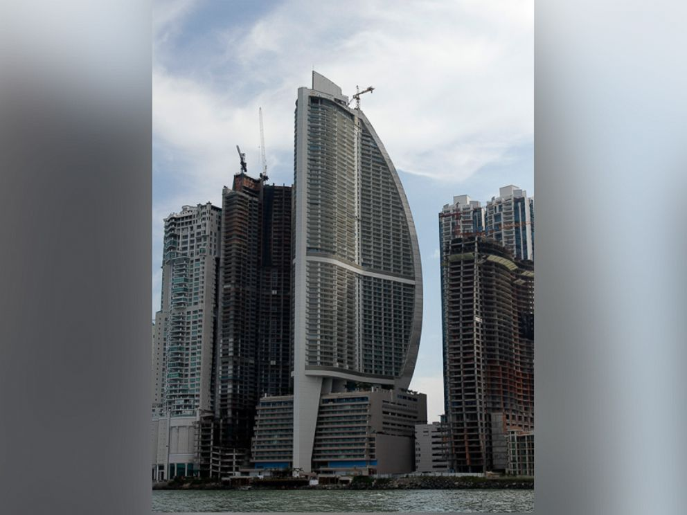 PHOTO: The Trump Ocean Club International Hotel and Tower, third building from left, is pictured July 4, 2011, in Panama City, Panama.
