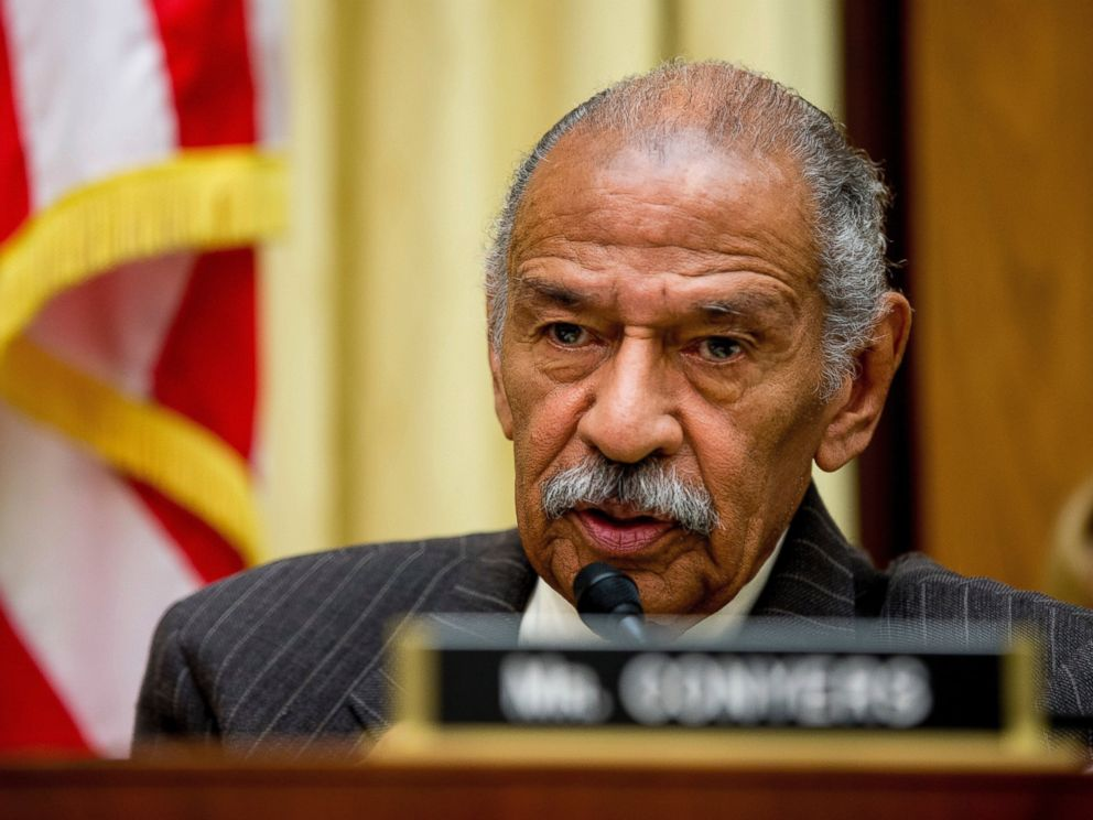 PHOTO: In this May 24, 2016, file photo, Rep. John Conyers, D-Mich., ranking member on the House Judiciary Committee, speaks on Capitol Hill in Washington during a hearing.