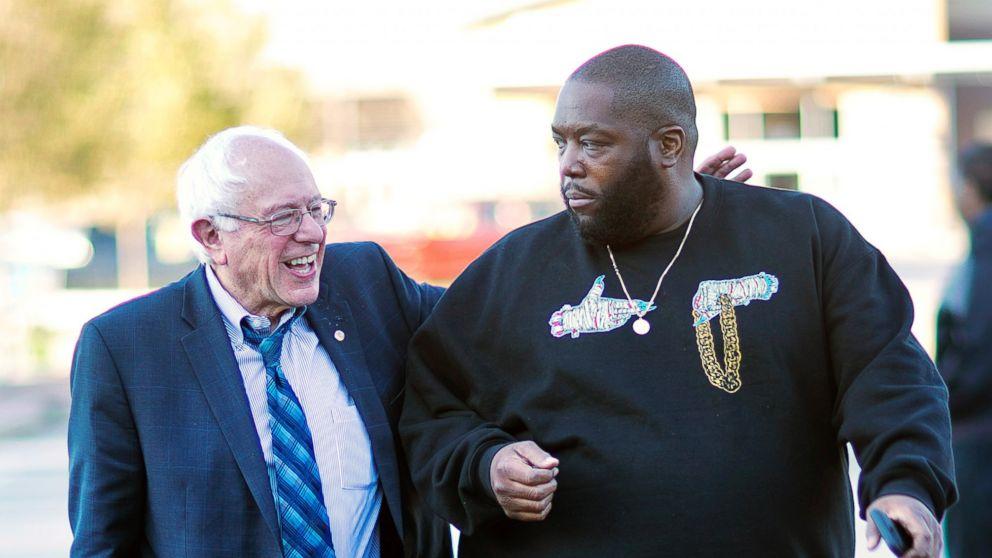 Bernie Sanders et Michael Render dit Killer Mike (membre du groupe)
