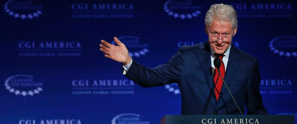 PHOTO: In this June 10, 2015 file photo, former U.S. President Bill Clinton speaks at annual gathering of the Clinton Global Initiative America, which is a part of The Clinton Foundation, in Denver.
