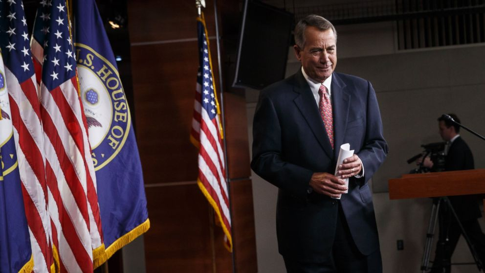House Speaker John Boehner of Ohio wraps up what may be his last news conference of the 113th Congress, Thursday, Dec. 11, 2014, on Capitol Hill in Washington.