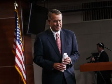 PHOTO: House Speaker John Boehner of Ohio wraps up what may be his last news conference of the 113th Congress, Thursday, Dec. 11, 2014, on Capitol Hill in Washington.