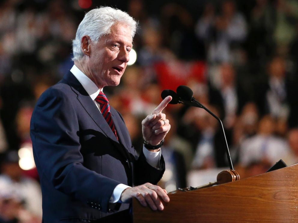 PHOTO: Former President Bill Clinton addresses the Democratic National Convention in Charlotte, N.C., on Sept. 5, 2012.