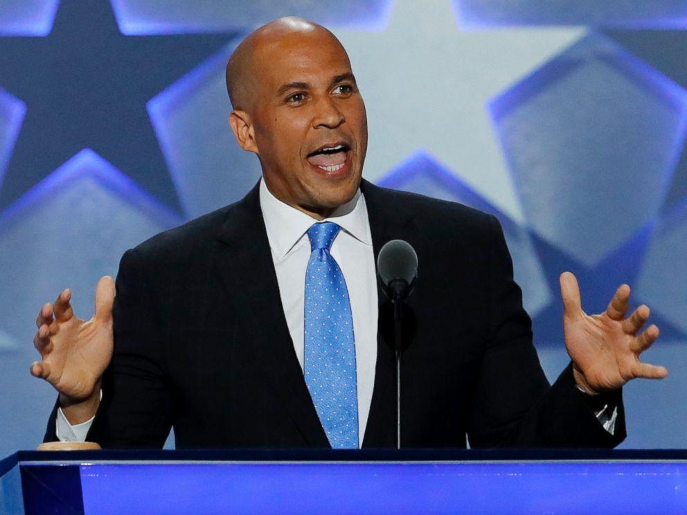 PHOTO: Sen. Cory Booker, D-NJ., speaks during the first day of the Democratic National Convention in Philadelphia, Pennsylvania, July 25, 2016.
