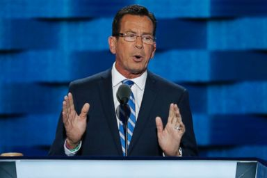 PHOTO: Connecticut Gov. Dannel Malloy speaks during the first day of the Democratic National Convention in Philadelphia, Pennsylvania, July 25, 2016.