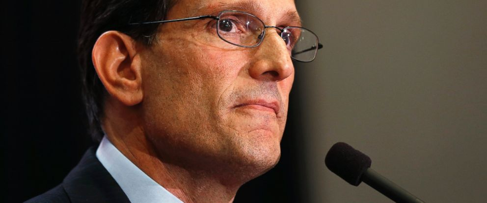 PHOTO: House Majority Leader Eric Cantor Delivers A Concession Speech In  Richmond, Va.