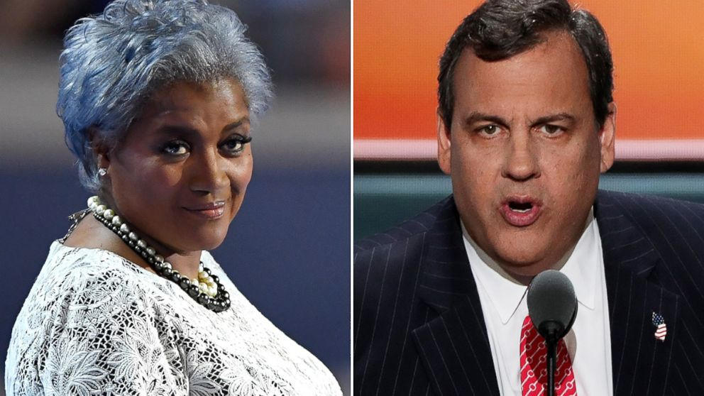 """Donna Brazile, left, and Chris Christie to appear on """"This Week."""""""