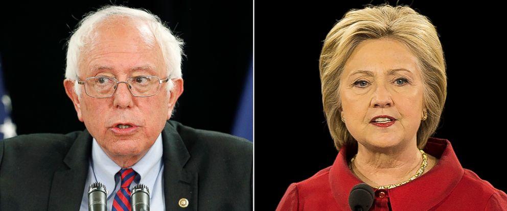 PHOTO: Sen. Bernie Sanders and Hillary Clinton.