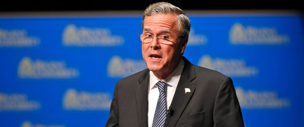 PHOTO: Republican presidential candidate Jeb Bush speaks during a Presidential candidate forum at Regent University in Virginia Beach, Va., Oct. 23, 2015.
