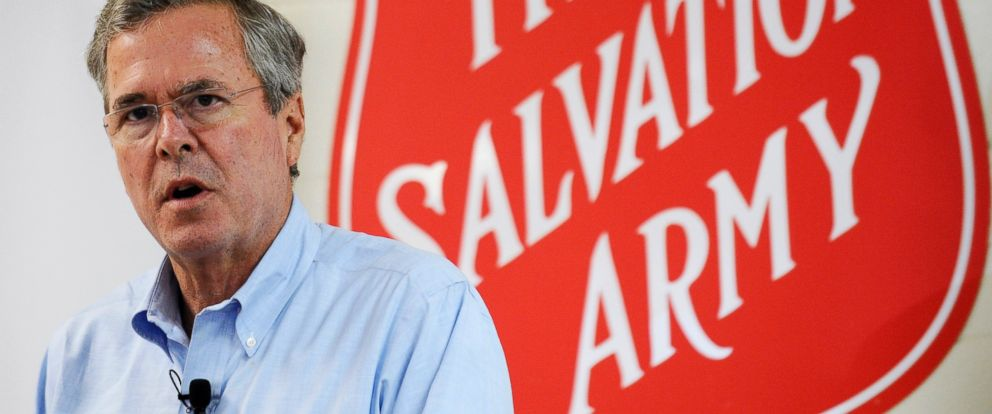 PHOTO: Republican presidential candidate, former Florida Gov. Jeb Bush speaks during a campaign stop at the Salvation Army, Nov. 24, 2015, in Greenville, S.C.