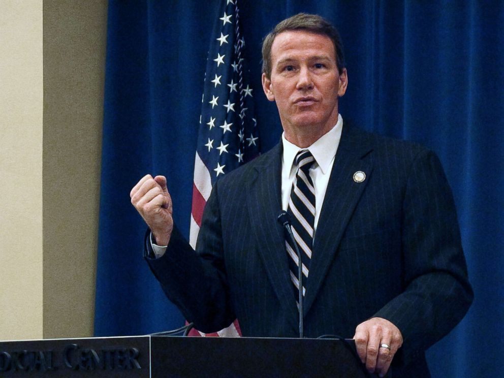 PHOTO: Ohio Secretary of State Jon Husted provides an overview of voting initiatives at a legislative forum hosted by The Associated Press in Columbus, Ohio, Jan. 30, 2014.