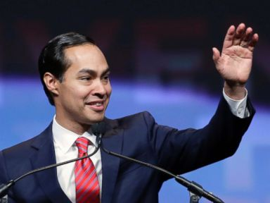 PHOTO: Housing and Urban Development Secretary Julian Castro addresses the Texas Democratic convention, June 17, 2016, in San Antonio.