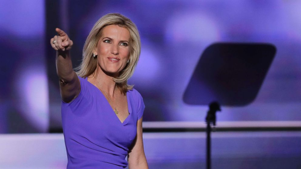 Conservative political commentator Laura Ingraham walks on stage during the third day of the Republican National Convention in Cleveland, Ohio, July 20, 2016.
