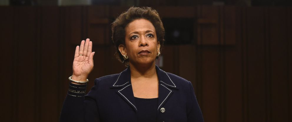 PHOTO: Attorney General nominee Loretta Lynch is sworn in on Capitol Hill in Washington, Jan. 28, 2015, prior to testifying before the Senate Judiciary Committee?s hearing on her nomination.