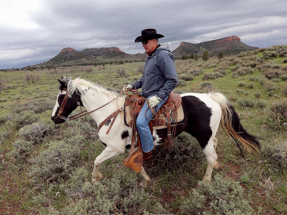 In this May 9, 2017, file photo, Interior Secretary Ryan Zinke rides a horse in the new Bears Ears National Monument near Blanding, Utah.