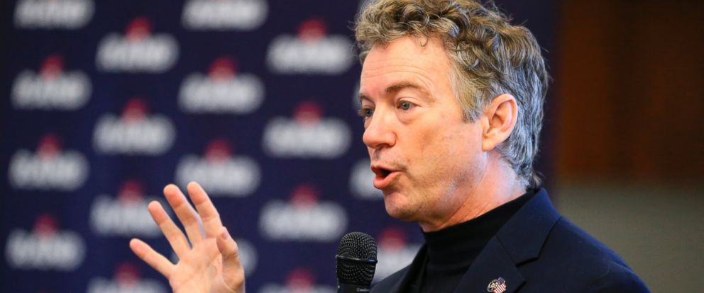PHOTO: Republican presidential candidate, Sen. Rand Paul speaks during a campaign stop in Council Bluffs, Iowa in this Jan. 7, 2016, file photo.