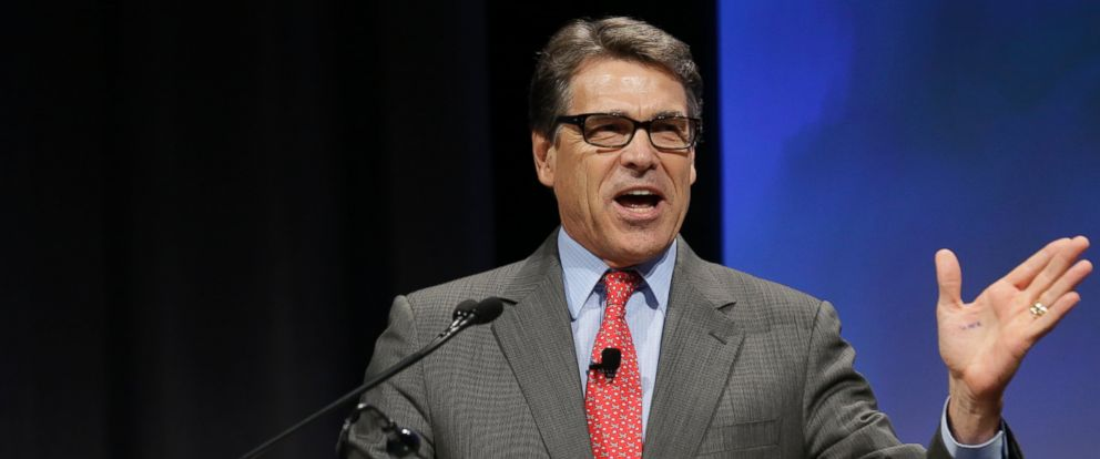 PHOTO: Texas Gov. Rick Perry speaks at the Americans for Prosperity gathering Aug. 29, 2014, in Dallas.