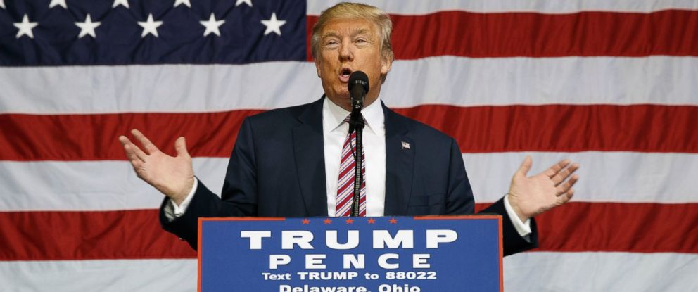 Donald trump will totally accept election results if i win abc photo republican presidential candidate donald trump speaks during a campaign rally at the delaware county publicscrutiny Image collections