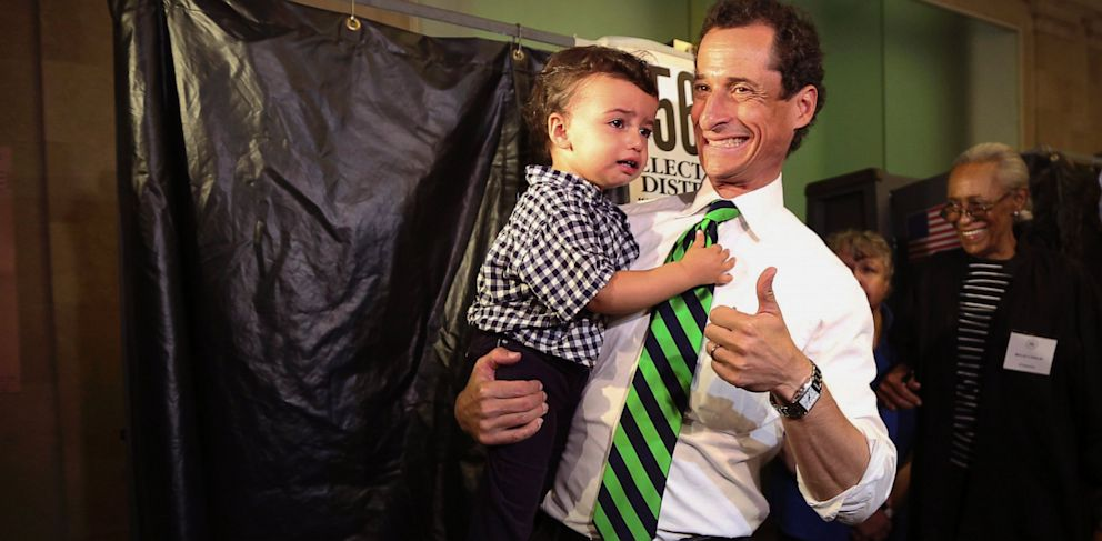 PHOTO: Anthony Weiner Exits The Polls