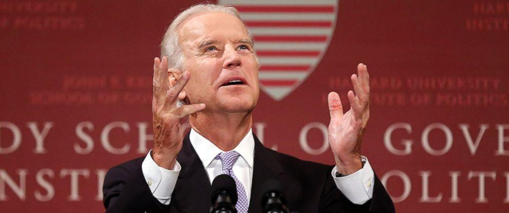 PHOTO: Vice President Joe Biden speaks at Harvard Universitys Kennedy School of Government in Cambridge, Mass.
