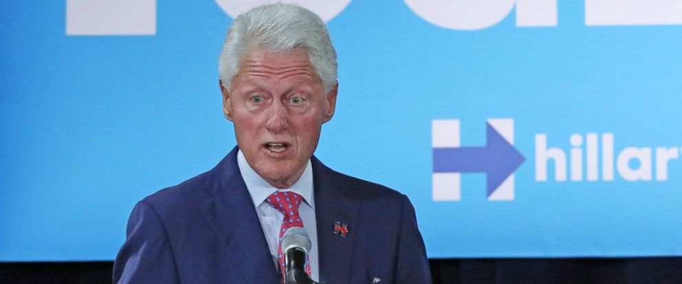 PHOTO: Former President Bill Clinton campaigns for his wife, Democratic presidential candidate Hillary Clinton, Sept. 7, 2016, at Dr. James R. Smith Neighborhood Center in Orlando, Florida.