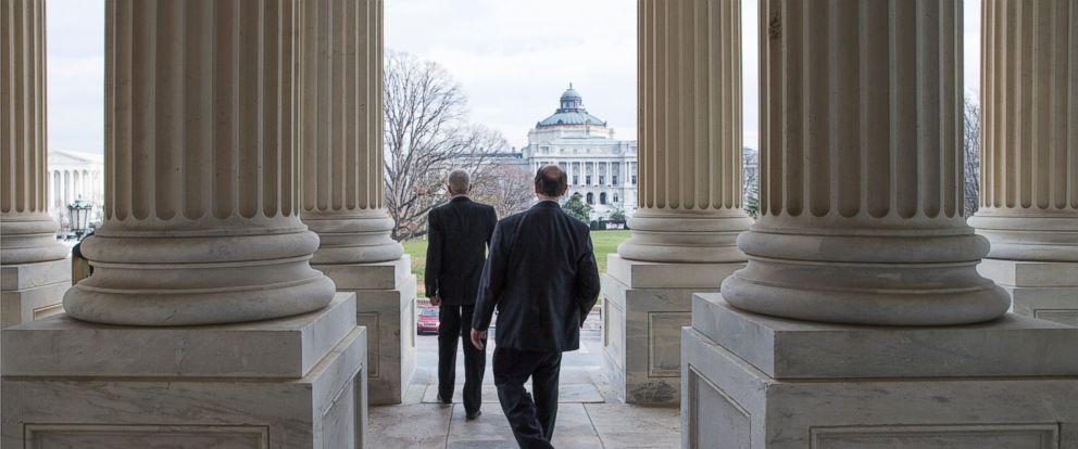PHOTO: Members of the House of Representatives leave Capitol Hill in Washington, Dec. 11, 2015, after a voice vote to approve a short-term spending bill, and allow more time to finalize a $1.1 trillion government-wide spending bill and tax package