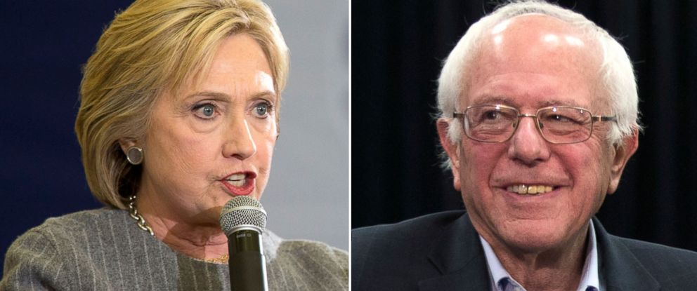 PHOTO: Hillary Clinton and Sen. Bernie Sanders.