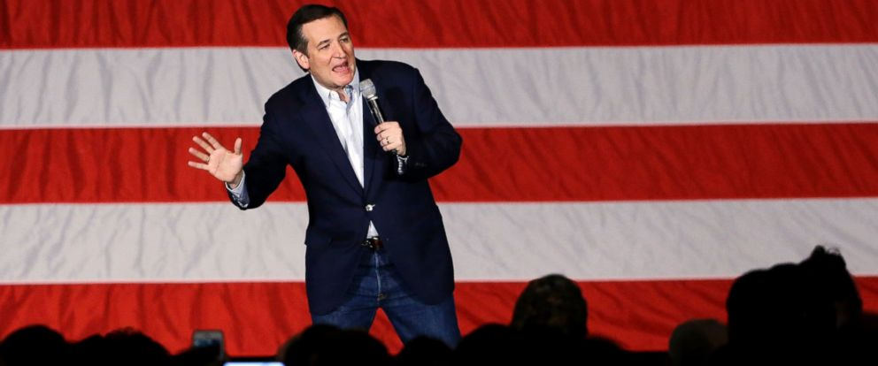PHOTO: Republican presidential candidate, Sen. Ted Cruz speaks at a campaign stop at Waukesha County Exposition Center, April 4, 2016, in Waukesha, Wis.