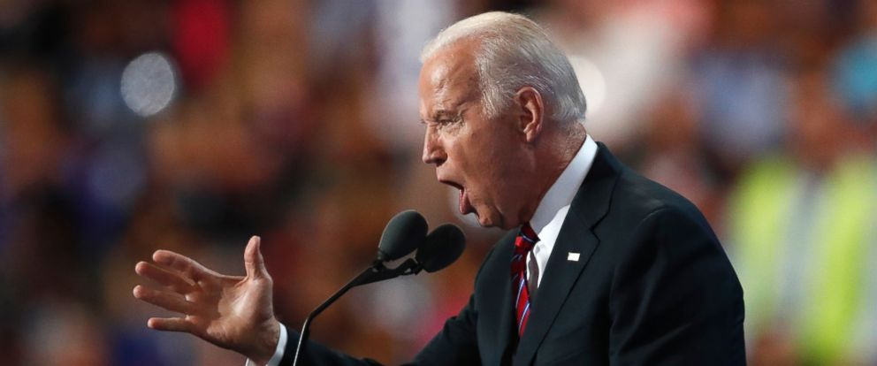 PHOTO: Vice President Joe Biden speaks during the third day of the Democratic National Convention in Philadelphia, July 27, 2016.