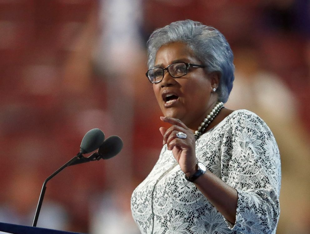 PHOTO: Democratic National Committee Vice Chair Donna Brazile speaks during the second day of the Democratic National Convention in Philadelphia, July 26, 2016.
