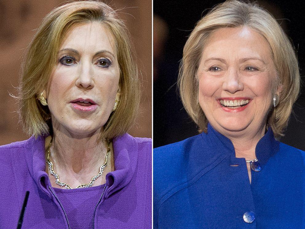 PHOTO: Cary Fiorina and Hillary Clinton