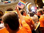 PHOTO: Supporters and opponents of Minnesotas gay marriage bill
