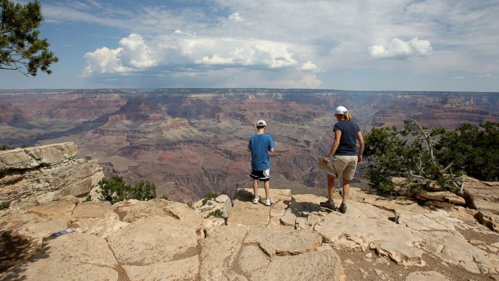 A spectacular view is seen from the South Rim at the Grand Canyon National Park, Ariz., Sept. 2, 2009.