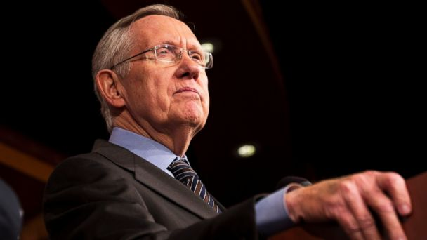 Senate Majority Leader Harry Reid pauses during a news conference on Capitol Hill in Washington, Nov. 21, 2013.